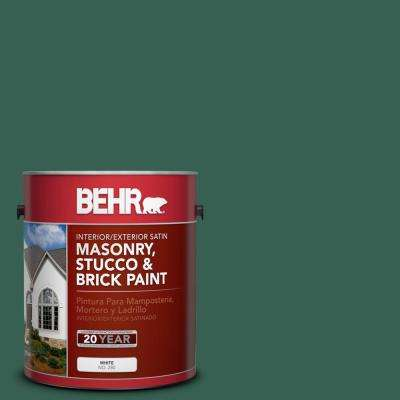 1 gal. #M430-7 Green Agate Satin Interior/Exterior Masonry, Stucco and Brick Paint