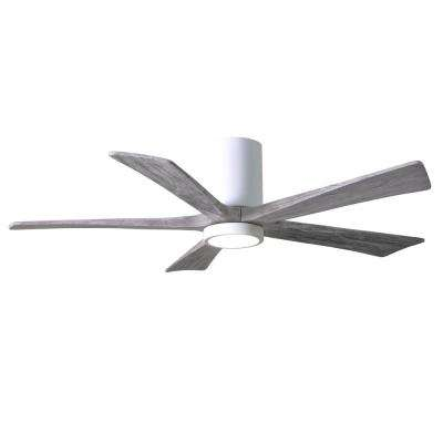 Irene 52 in. LED Indoor/Outdoor Damp Gloss White Ceiling Fan with Light