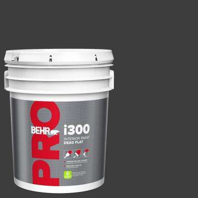 5 gal. Black Dead Flat Interior Paint