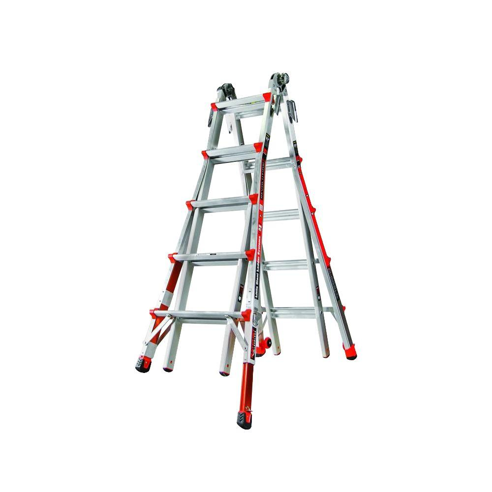 Revolution 22 ft. Aluminum Multi-Use Ladder with Ratcheting Levelers 300 lbs.