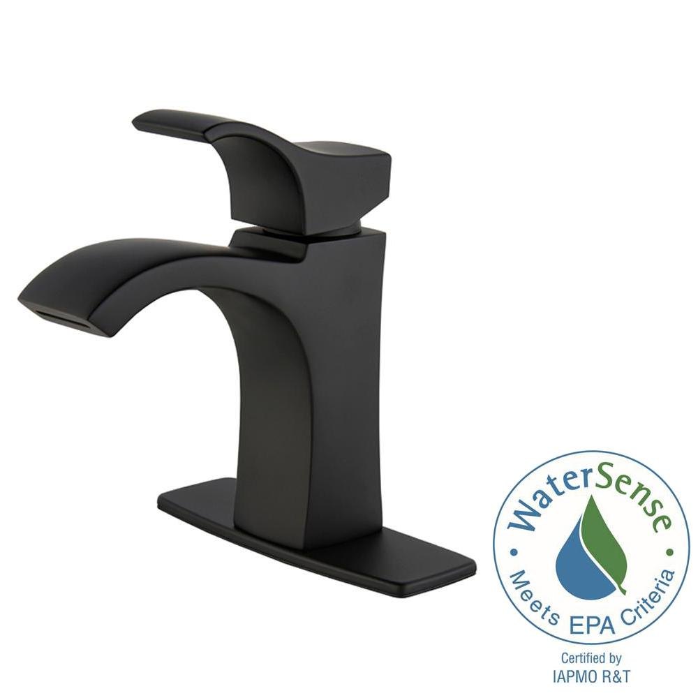 Bathroom Sink Faucet 4 in. Centerset Single-Handle Ribbon Spout ...