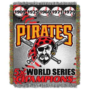 Pirates Multi Color Commemorative Series Tapestry Throw by