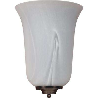 Troy 4.5 in. 1-Light Indoor Antique Bronze Wall Mount Sconce with Alabaster Glass Bell Shade