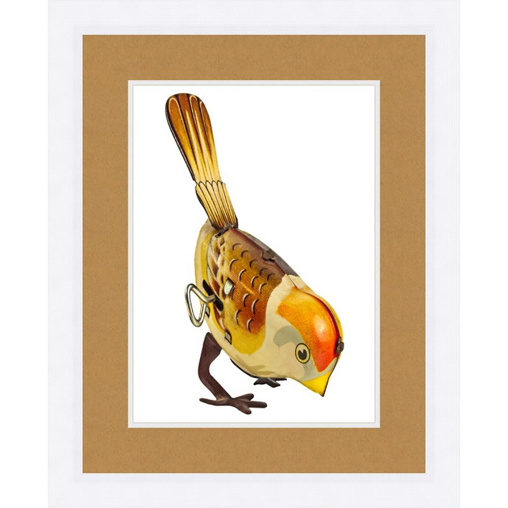 "21 in. x 17 in. ""Toy Bird"" Framed Giclee Print Wall"