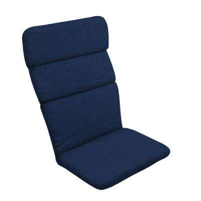 20 in. x 17 in. Sapphire Leala Texture Outdoor Adirondack Chair Cushion