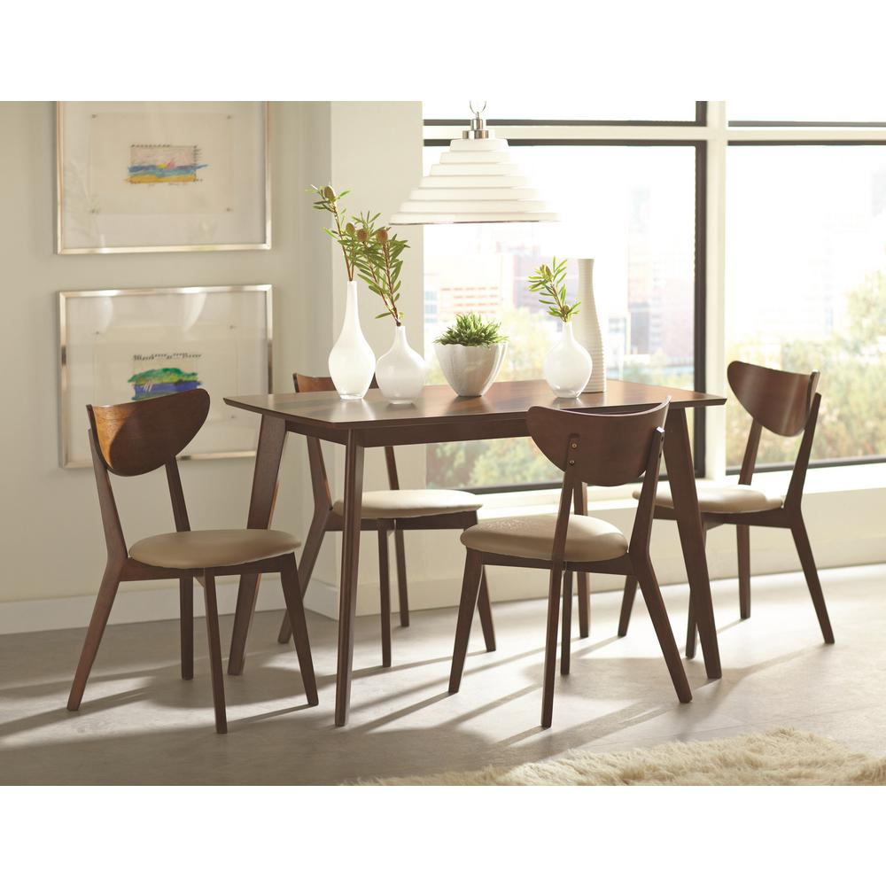 Coaster Kersey Collection Chestnut/Off White Wooden Dining