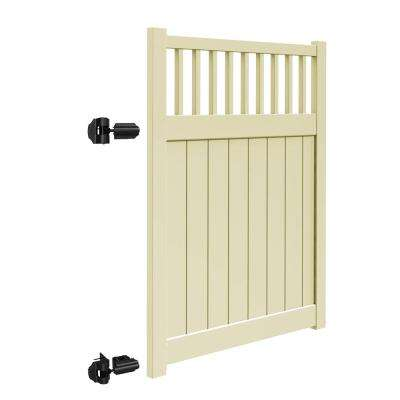 Missouri 5 ft. W x 6 ft. H Sand Vinyl Un-Assembled Fence Gate