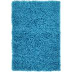 Solid Shag Turquoise 2 ft. x 3 ft. Area Rug