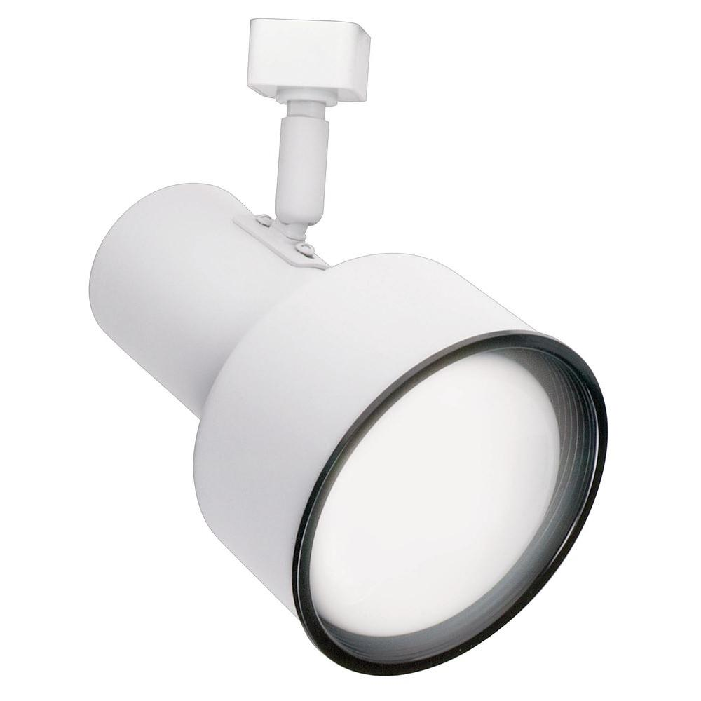 Hampton Bay R20 White Step Cylinder Track Lighting Fixture
