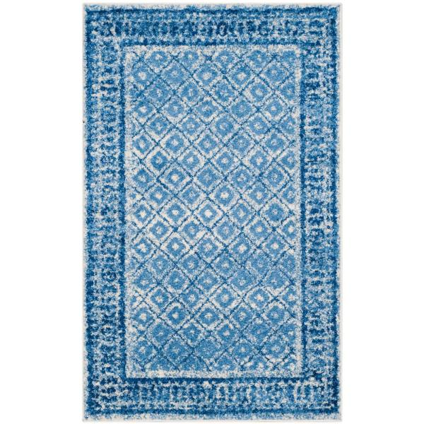 Adirondack Silver/Blue 3 ft. x 5 ft. Area Rug