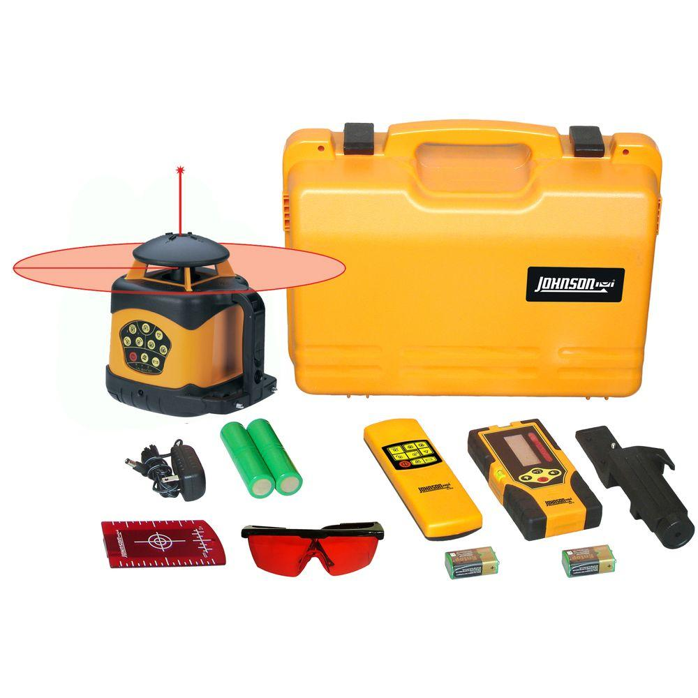 Johnson Electronic Self-Leveling Horizontal and Vertical Rotary Laser Level