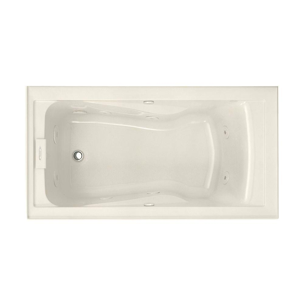 American Standard EverClean 60 in. x 32 in. Left Drain Whirlpool Tub ...