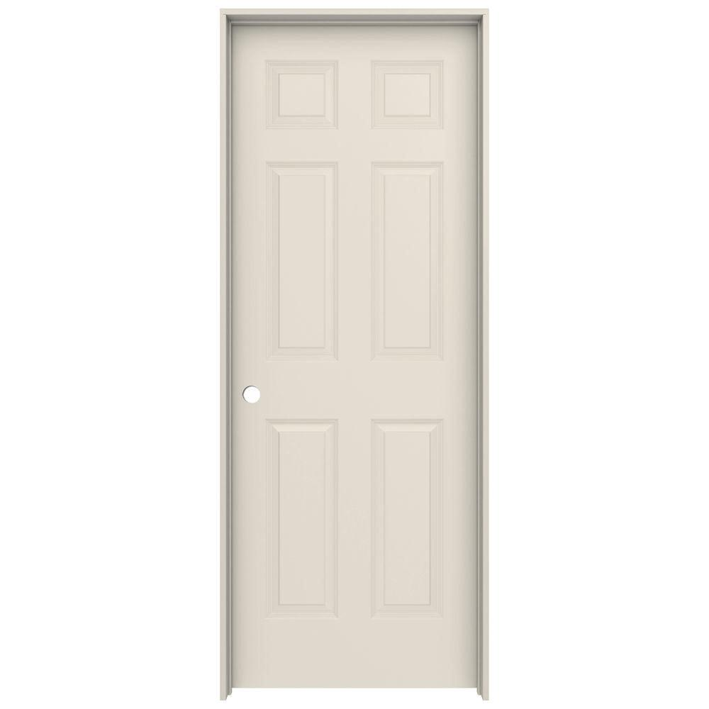 Colonist Primed Right Hand Smooth Solid Core Molded Composite MDF Single Prehung  Interior Door