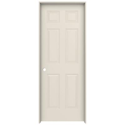 24 in. x 80 in. Colonist Primed Right-Hand Smooth Molded Composite MDF Single Prehung Interior Door