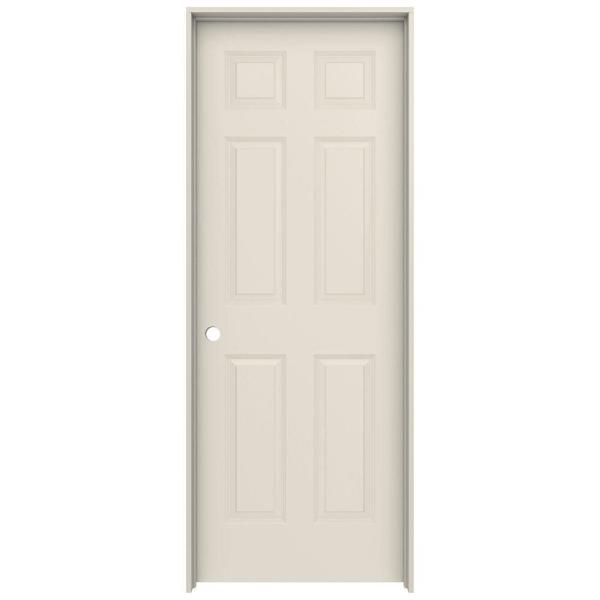 30 in. x 80 in. Colonist Primed Right-Hand Smooth Solid Core Molded Composite MDF Single Prehung Interior Door