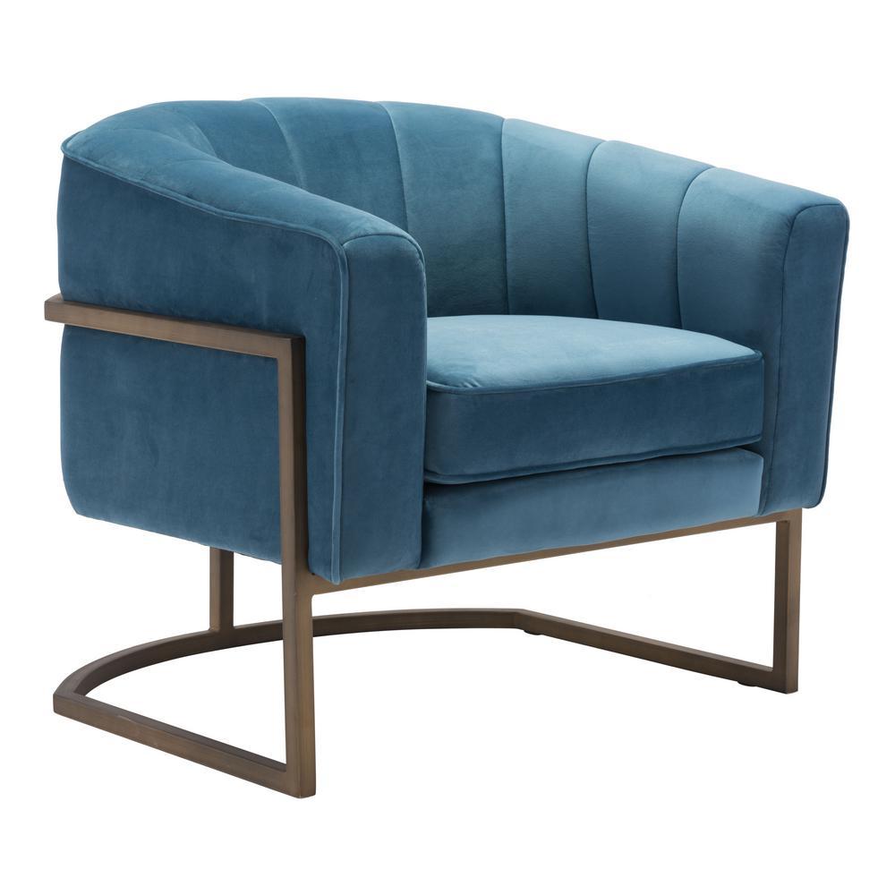 Lyric Blue Velvet Occasional Chair