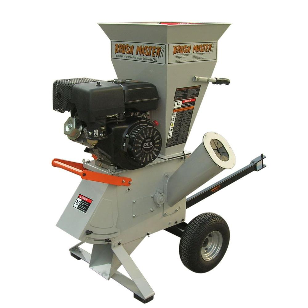 Brush Master 15 HP 420 cc Gas Commercial-Duty Chipper Shredder with 4 in. x 3 in. Diameter Feed with Bonus Kit