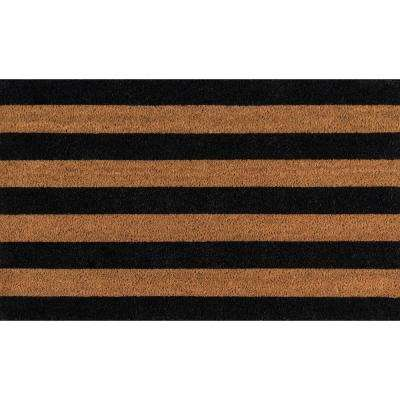 Stripe Black 1 ft. 6 in. x 2 ft. 6 in. Doormat