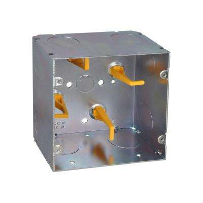 5 in. Steel Square Box with Cable Management Posts (20 per Case)