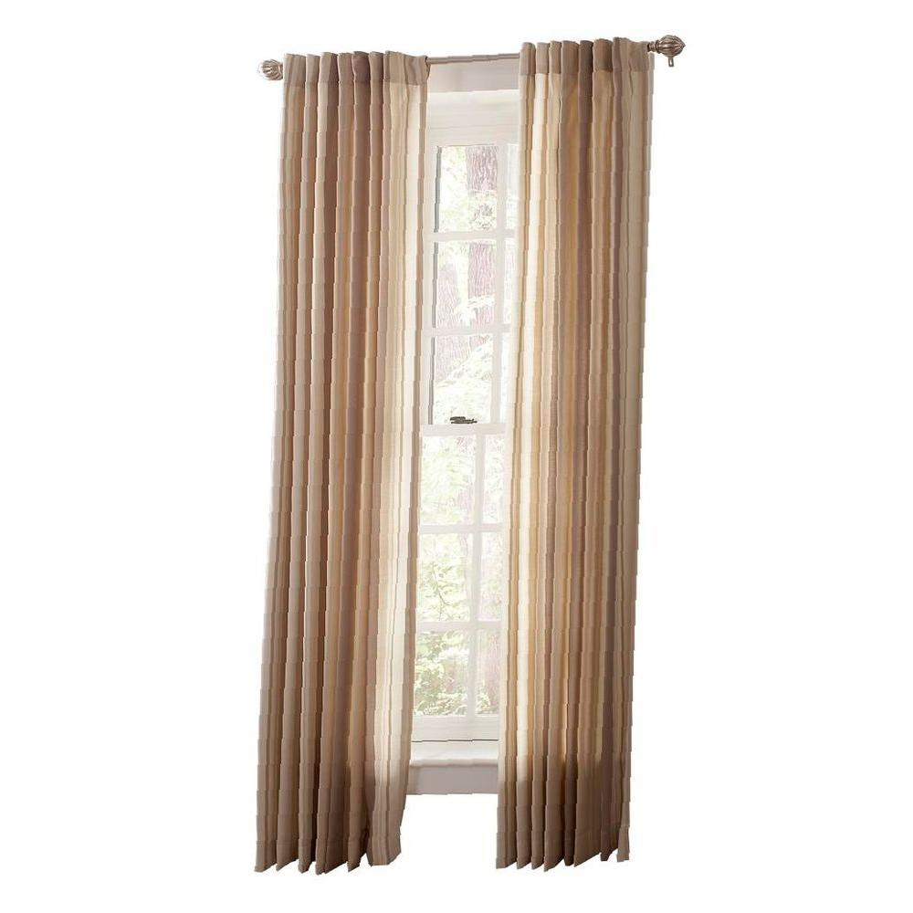 Martha Stewart Living Wild Turkey Multi Stripe Back Tab Curtain 1617935 The Home Depot