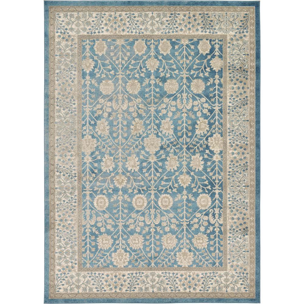 light blue 7 ft x 10 ft salzburg area rug