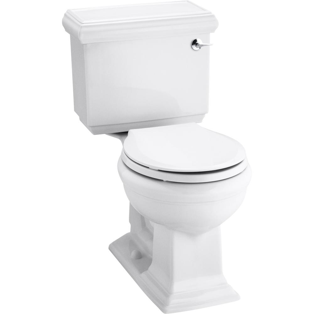 Memoirs Classic 1.28 GPF Single Flush Round Toilet in White (2-Piece),