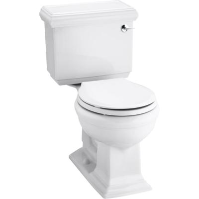 Memoirs Classic 1.28 GPF Single Flush Round Toilet in White (2-Piece), Seat Not Included