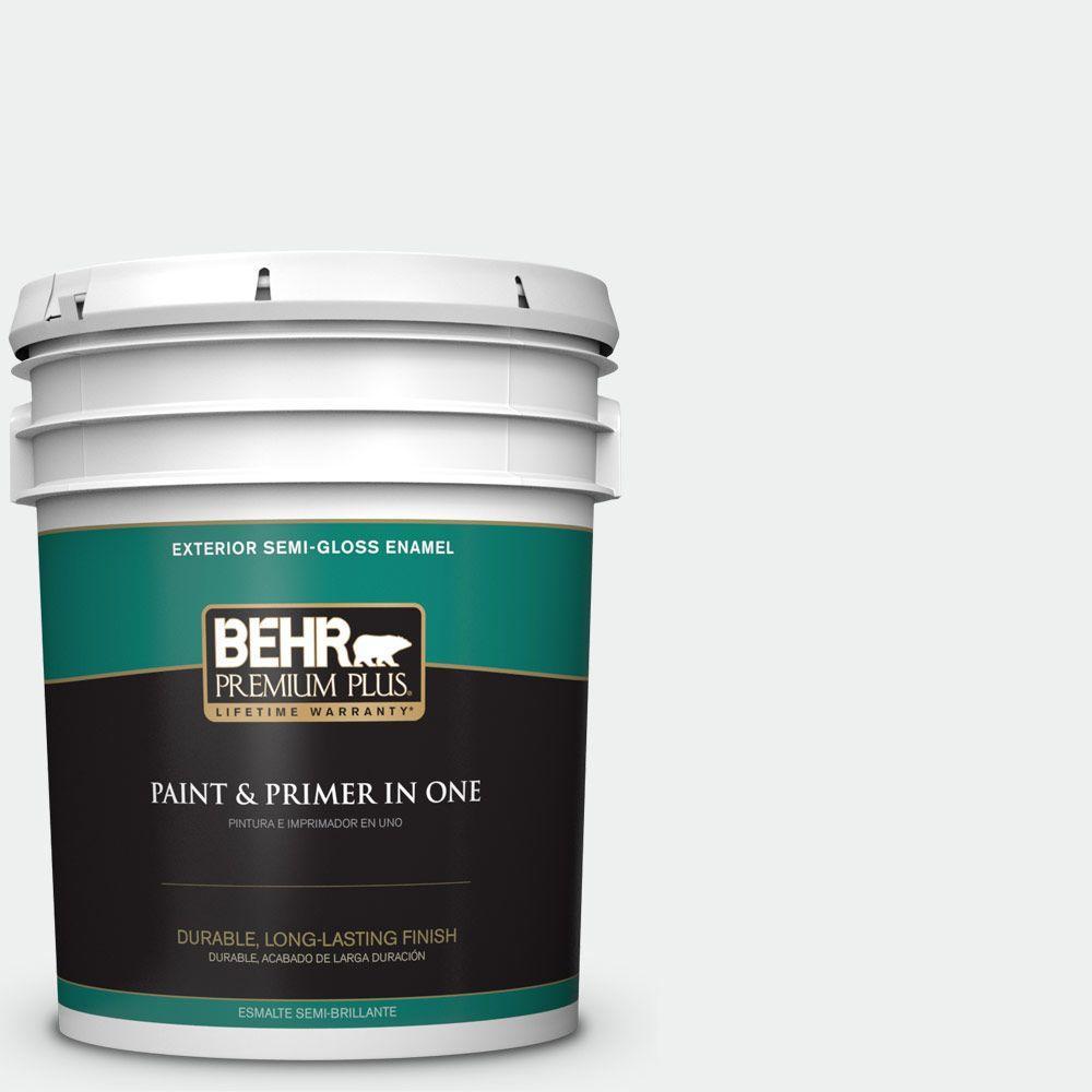 5 gal. #57 Frost Semi-Gloss Enamel Exterior Paint