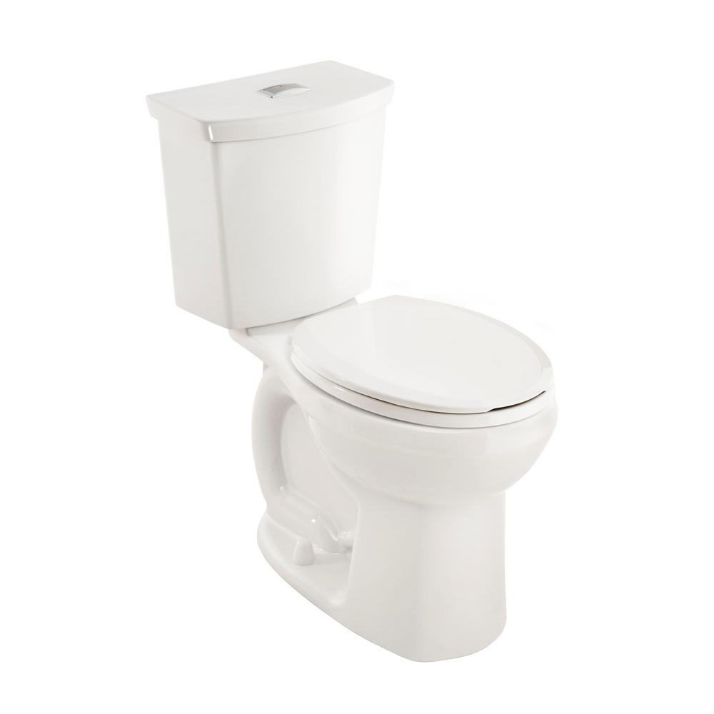 cadet 3 right height complete 2piece 10 gpf dual flush round toilet in white