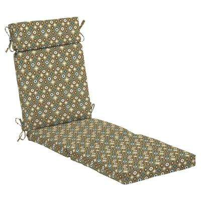 Toffee Southwest Outdoor Chaise Lounge Cushion