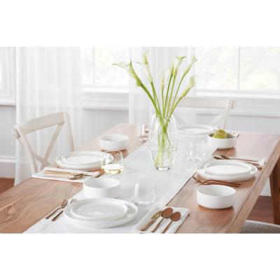 Chastain 16-Piece White Porcelain Dinnerware Set (Service for 4)