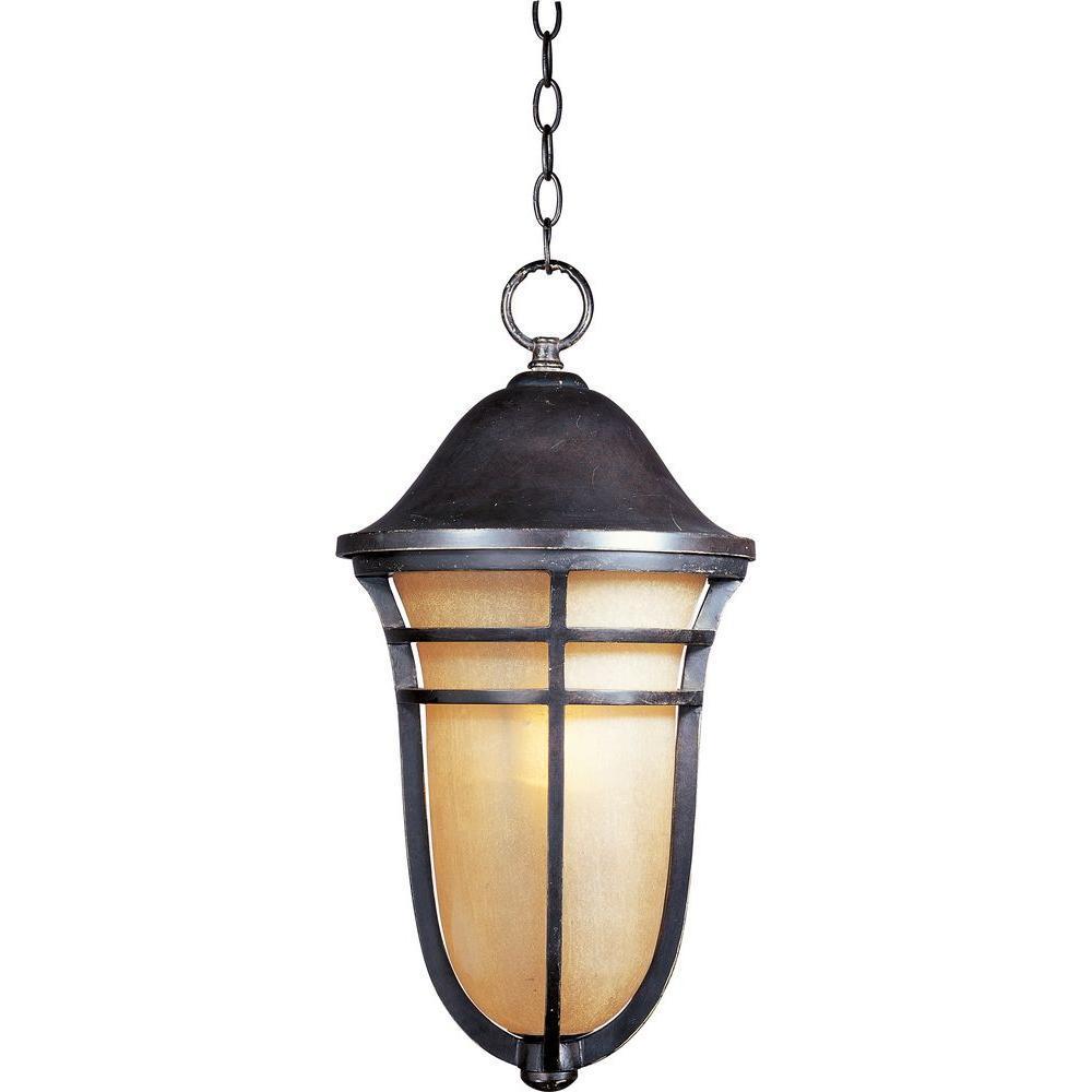 Westport Vivex 1-Light Artesian Bronze Outdoor Hanging Lantern
