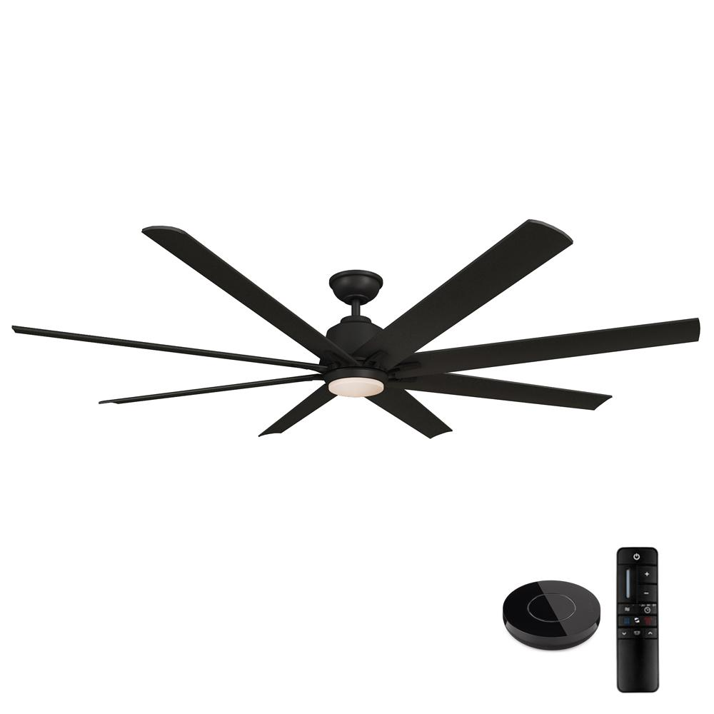 Home Decorators Collection Kensgrove 72 in. LED Matte Black Ceiling Fan with Light and Remote Control works with Google and Alexa