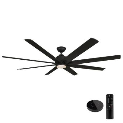 Kensgrove 72 in. LED Matte Black Ceiling Fan with Light and Remote Control works with Google and Alexa