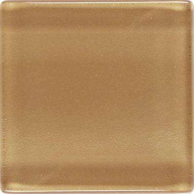 Illustrations Amber Gold 12 in. x 12 in. x 3 mm Glass Mesh-Mounted Mosaic Wall Tile