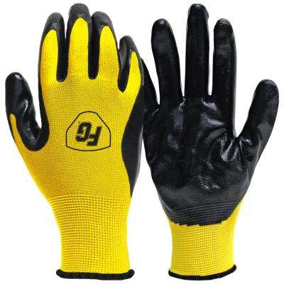 Large General Purpose Nitrile Coated Gloves (20-Pair)