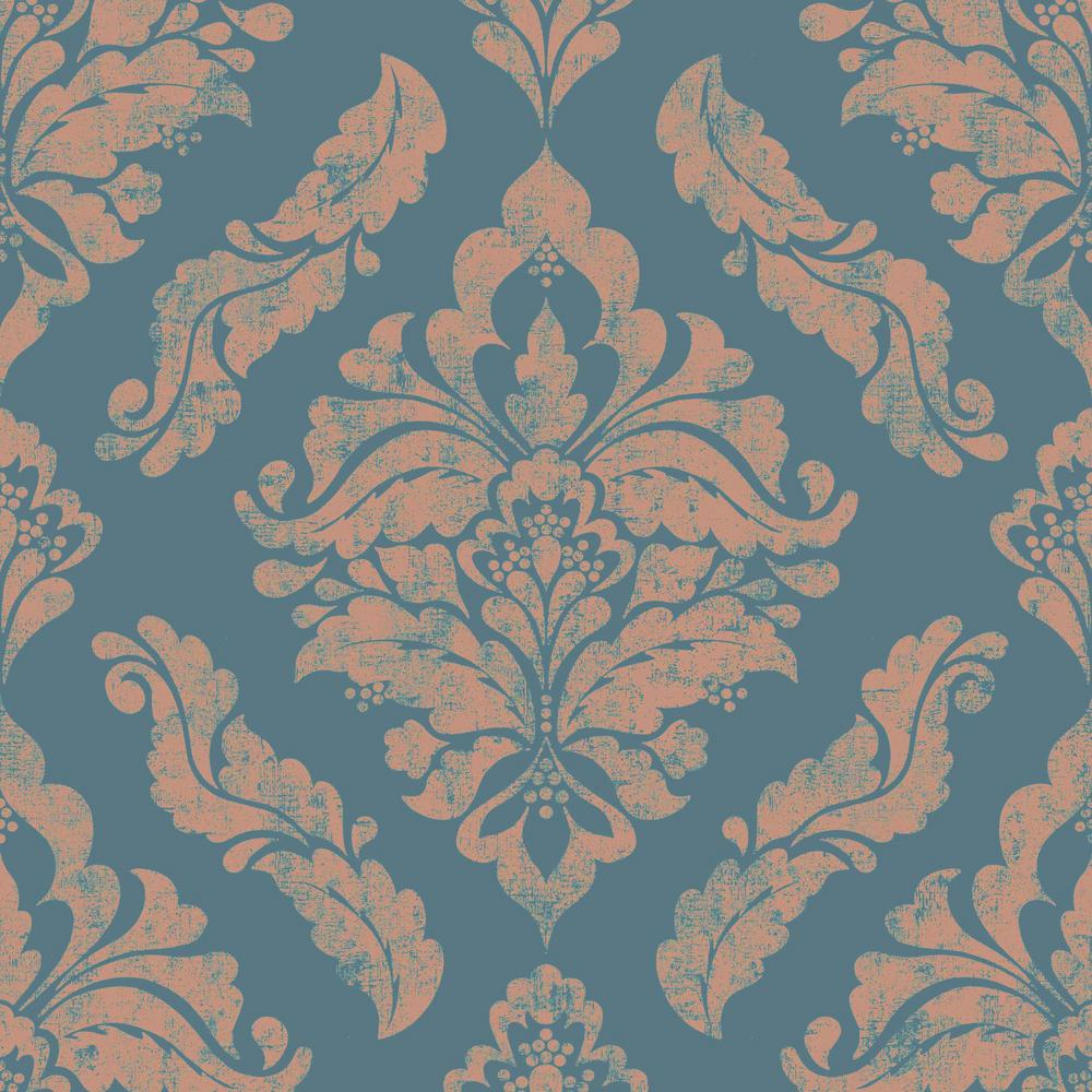 Damaris Teal And Rose Gold Removable Wallpaper