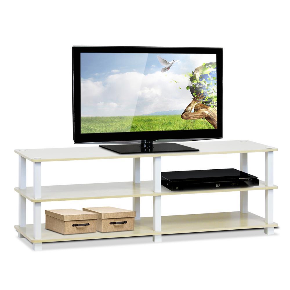 Turn-S-Tube Steam Beech 3-Shelf TV Stand