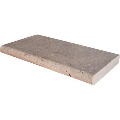 Silver 12 in. x 24 in. Gray Travertine Pool Coping (15 Piece / 30 Sq. Ft. / Pallet)