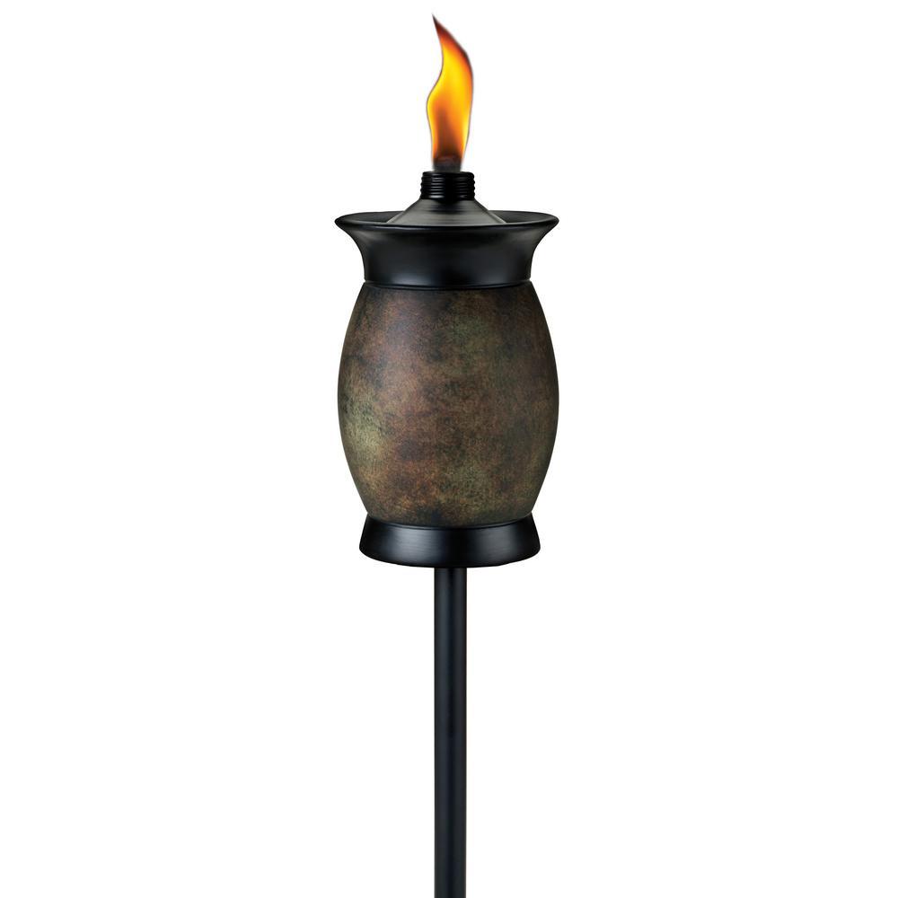 64 in. Resin Jar Torch 4-in-1 Stone Color