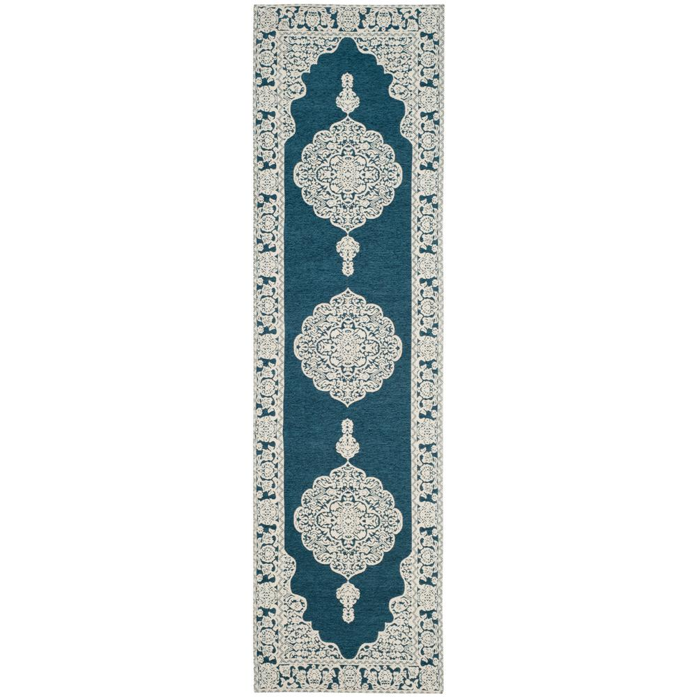 Safavieh Marbella Dark Blue/Ivory 2 ft. 3 in. x 8 ft. Runner Rug