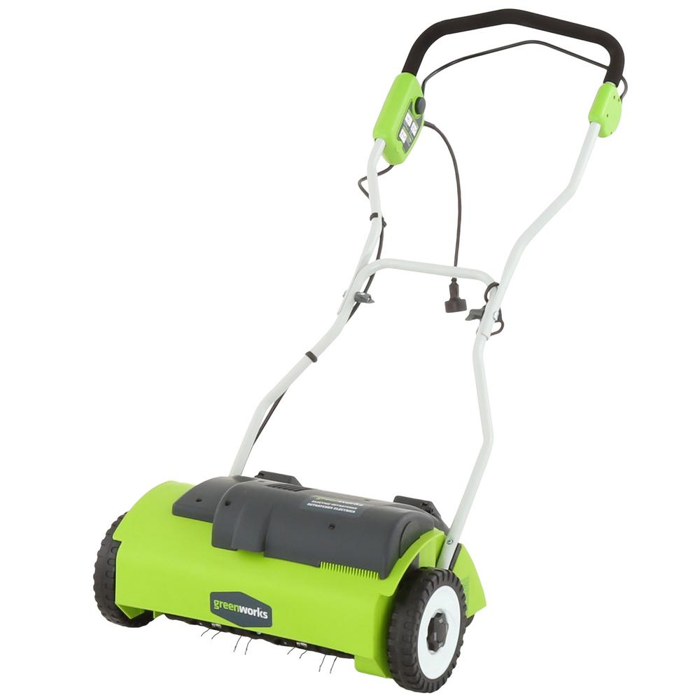 Greenworks 14 In 10 Amp Dethatcher Gw27022 The Home Depot