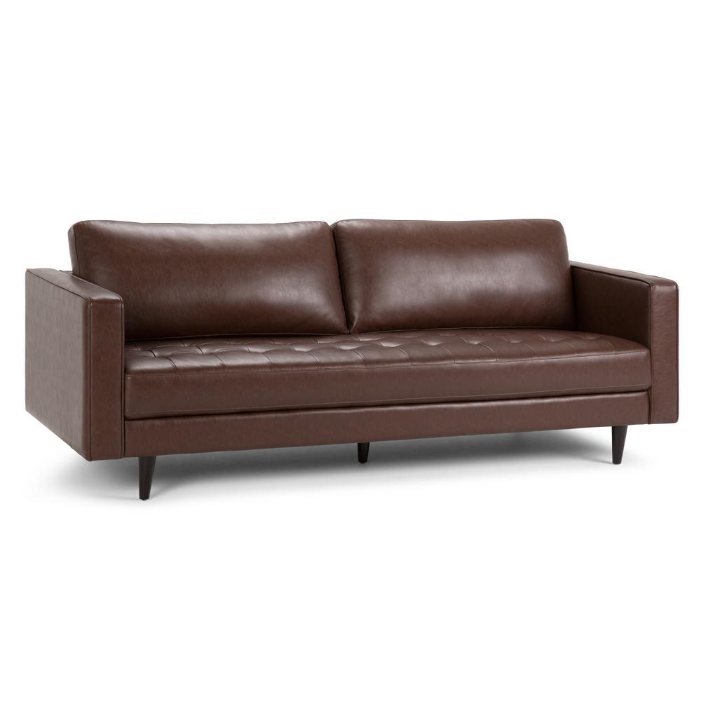 Blaine Distressed Cognac Sofa