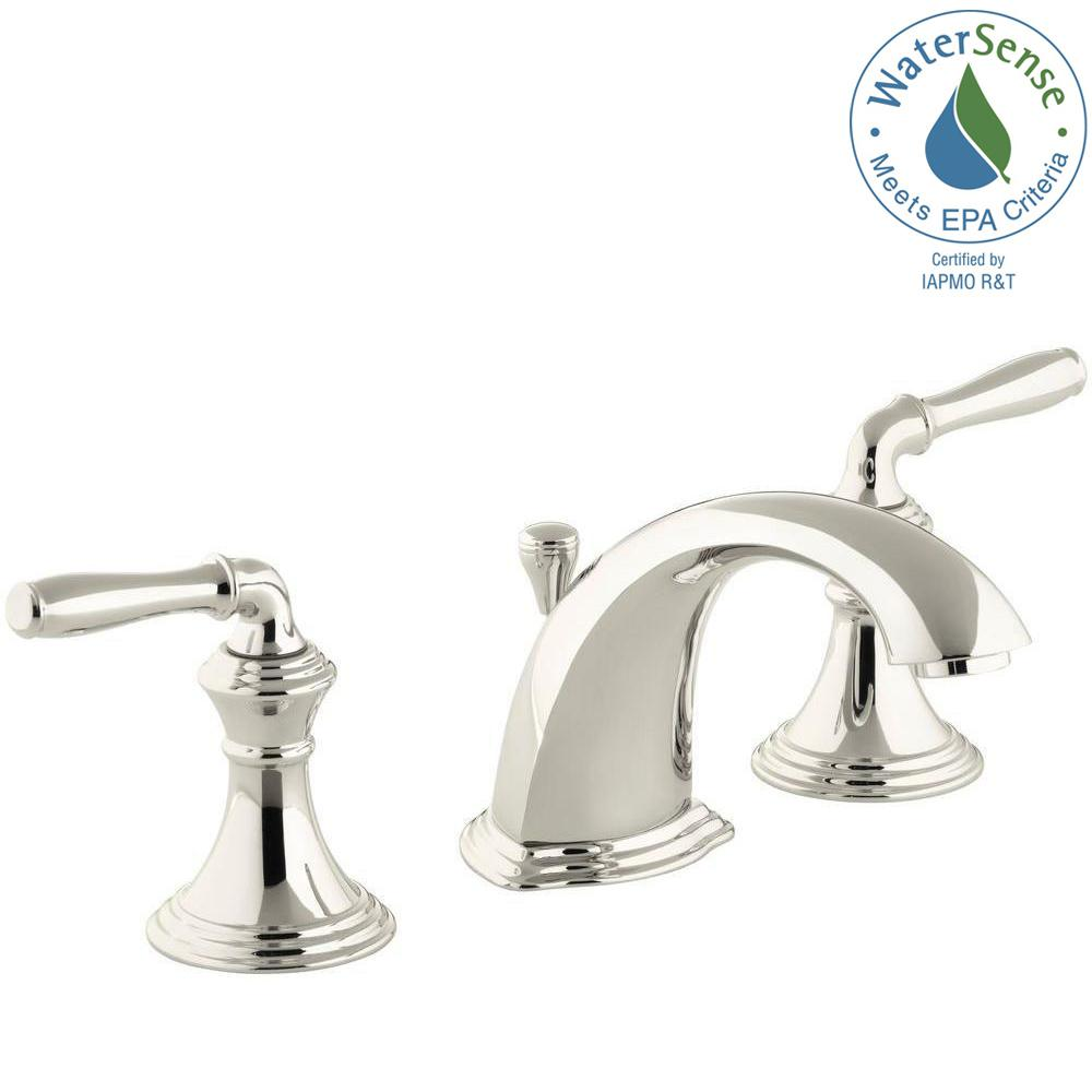 Widespread 2 Handle Low Arc Bathroom Faucet In Vibrant