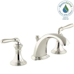 Captivating Devonshire 8 In. Widespread 2 Handle Low Arc Bathroom Faucet In Vibrant  Polished