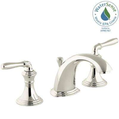 Devonshire 8 in. Widespread 2-Handle Low-Arc Bathroom Faucet in Vibrant Polished Nickel