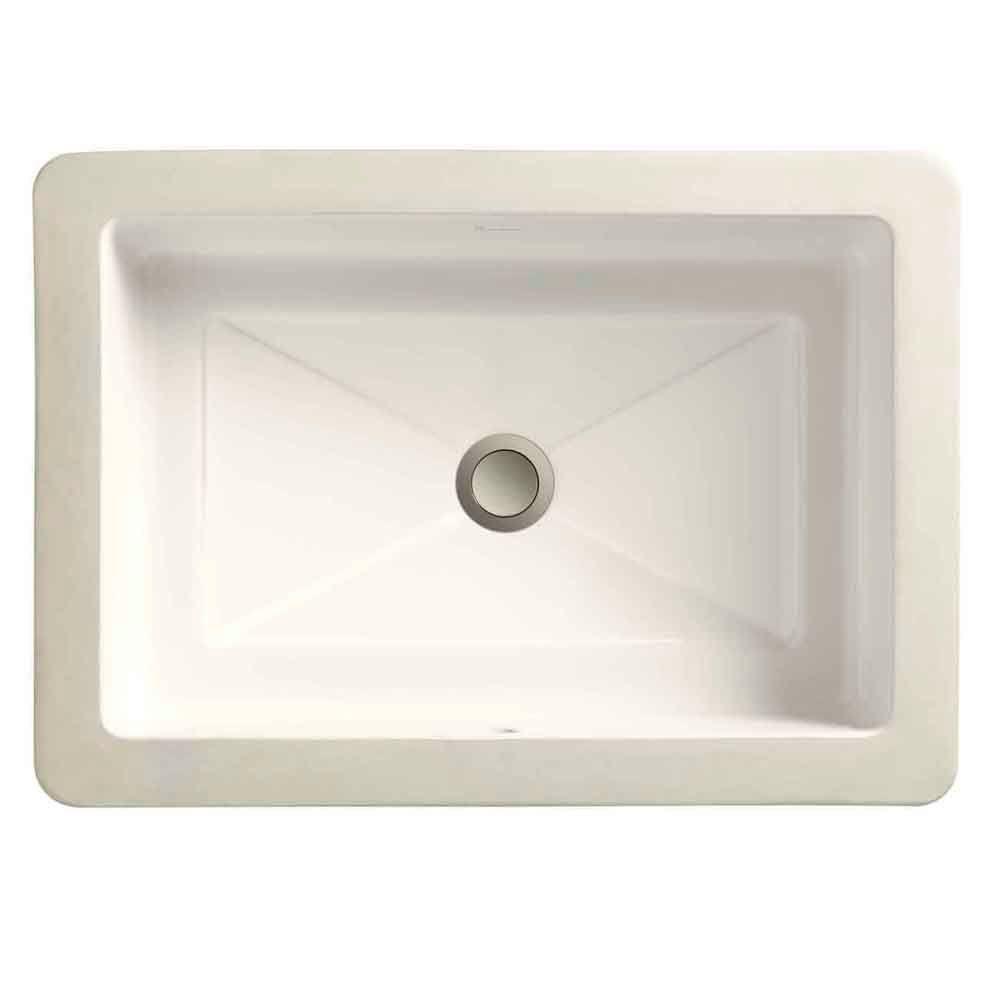 Porcher Marquee Grande Under-Mount Bathroom Sink in Biscuit-DISCONTINUED