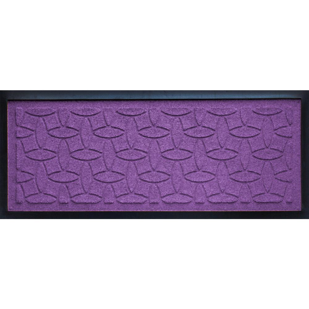 Purple 15 in. x 36 in. x 1/2 in. Ellipse Boot Tray