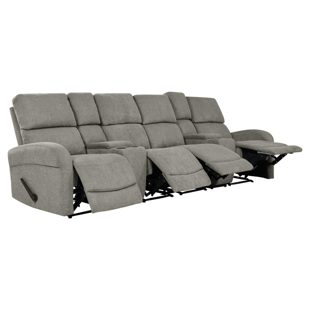 B751 Transitional Reclining Sectional With Storage Console: Brown Jennings Power Reclining Sofa-A398U-403-139