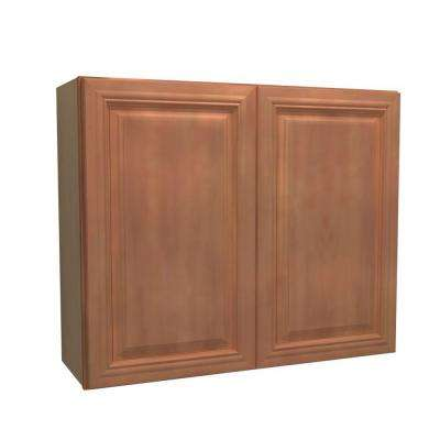 36x30x12 in. Dartmouth Assembled Wall Cabinet with 2 Doors in Cinnamon